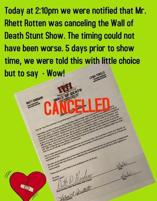 Wall of Death Cancelled